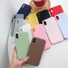 Für Xiaomi Redmi Hinweis 7 10 8T 8 Pro 6 5 Plus 4 4X 5A 6A Fall Weiche Silikon abdeckung Für Red mi Note8 8A Hinweis 5 7A 9A 9C 9T 9S 9 Pro cheap DCSh CN (Herkunft) Halb gewickelt Fall Candy Phone Case Plain Anti-knock Case For Xiaomi Redmi Note 5 For Xiaomi Redmi Note 5 Pro Case