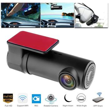 Mini Hide Car Camera Recorder 1080P USB Video Dash Cam Wifi Digital Registrar 170 Wide Orejestrator 3 in 1 DVR With Charger image