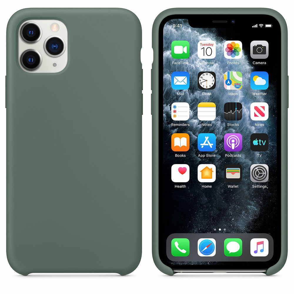 Caso de silicone líquido para apple iphone 7 8 6 s plus xr xs max x capa com logotipo oficial original caso para iphone 11 pro max