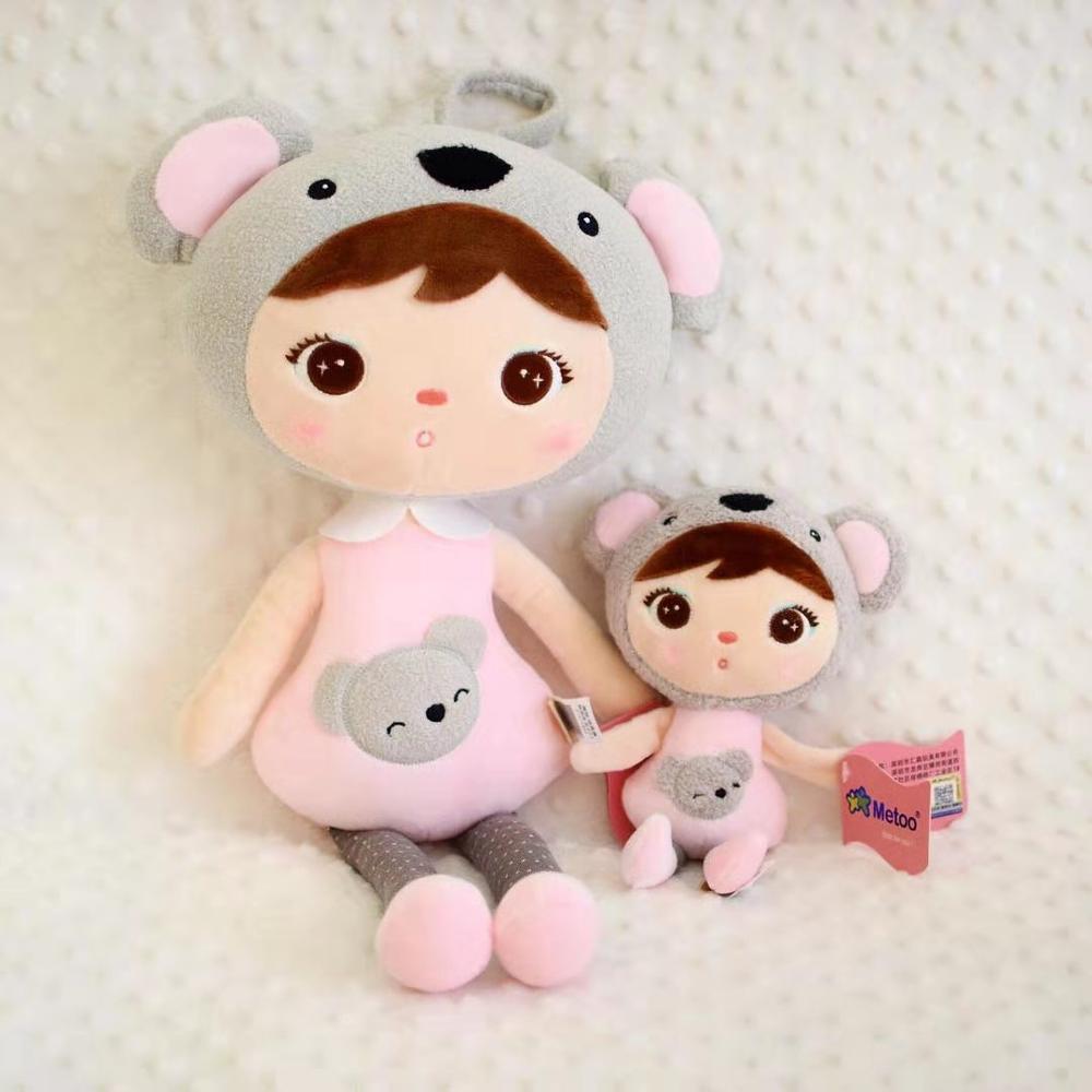 New Genuine 20CM 45CM New Cartoon Stuffed Animals Metoo Angela Plush Toys Dolls For Birthday Christmas Children Gifts A47