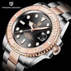 PAGANI DESIGN Edelstahl Wasserdichte Uhr Männer relogio masculino Männer Automatische Uhr Sapphire Luxus Mechanische Armbanduhr