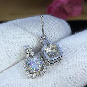 Image 2 - earrings set Moissanite Cut Total 1.00ct retro earings fashion jewelry 2020 aesthetic Moissanite earrings for women