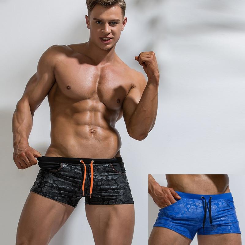 2019 Men Printed Quick-Dry AussieBum Nylon Sexy Fashion Hot Springs Swimming Trunks