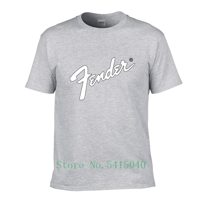 2019 New Authentic Fashion Short-Sleeved Guitar <font><b>Fender</b></font> Summer Brand Unisex <font><b>T</b></font>-<font><b>Shirt</b></font> Cotton <font><b>Shirt</b></font> <font><b>T</b></font>-<font><b>Shirt</b></font> Quality image