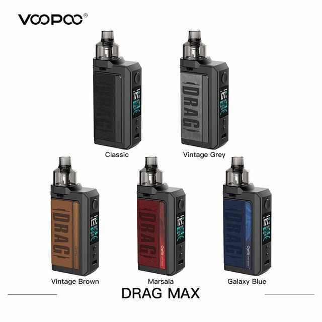 מקורי VOOPOO גרור מקס ערכת 177W אלקטרוני סיגריה מאדה עם 4.5ml PnP Pod טנק 18650 תיבת Mod Vape ערכת VS Swag 2/גרור X