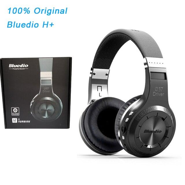 Cuffie Bluedio H originali Bluetooth 4.1 Stereo Bass HIFI cuffie Wireless auricolari per chiamate musica con microfono FM