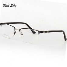 Men Square Stainless Steel Optical Glasses Frame Metal Half Frame Reading Glasses Progressive Myopia Lens Prescription Spectacle