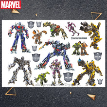 Hasbro Marvel 17*10cm Transforming auto man Captain America Cartoon water transfer Kind Tattoo Sticker Party Grappige Sticker speelgoed()
