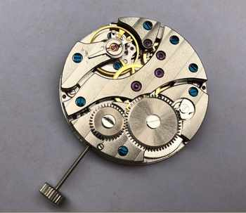parnis 17 jewels mechanical 6497 hand-winding Movements fit for Men\'s watch jx01a