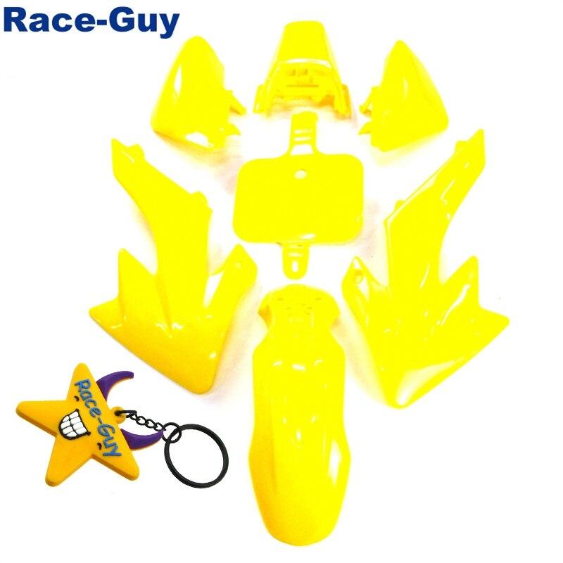 Желтые наборы обтекателей для Honda CRF50 XR50 китайский велосипед грязи 50cc 70cc 90cc 110cc 125cc 150cc 160cc