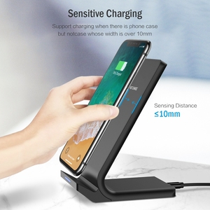 Image 4 - DCAE 10W Qi Wireless Charger For iPhone X XS 11 XR 8 Plus Quick Charge 3.0 Fast Charging Stand For Samsung S8 S9 S10 Note 10 9 8