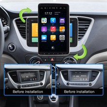 10.1 Inch Android 9.1 Car Multimedia Player 1Din Radio with Up Down Rotation Adjustable Sn Wifi Bluetooth GPS Player(China)