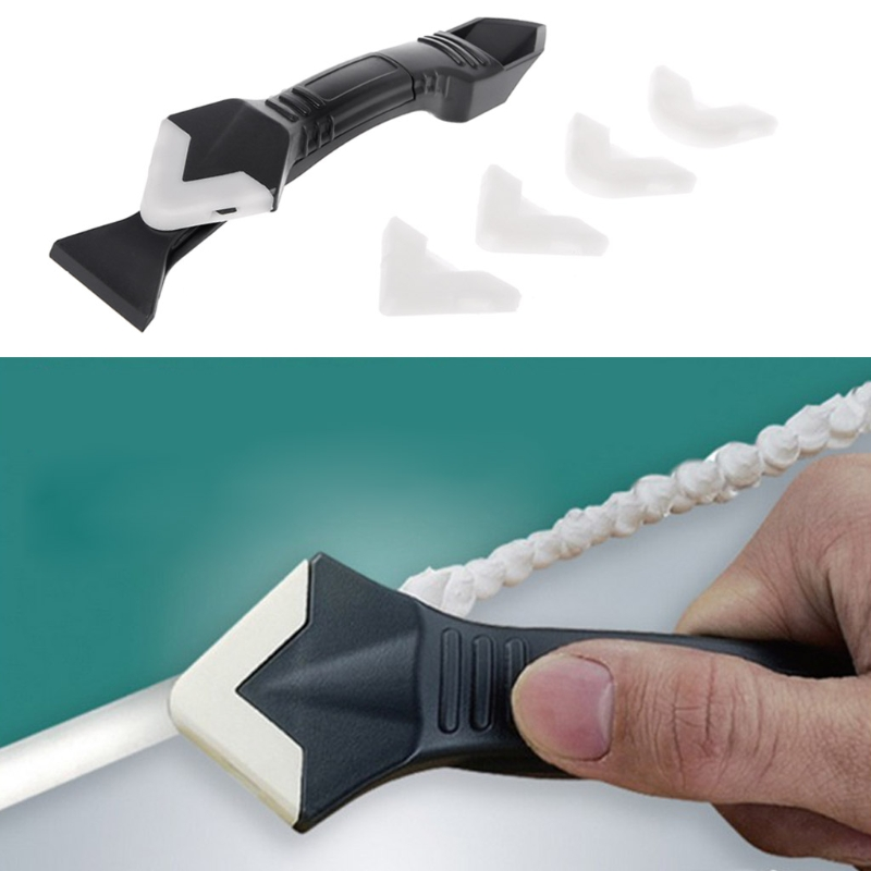 DIY 3 In 1 Sealant Angle Scraper Silicone Trowel Grout Caulk Corner Remover Tool Construction Decoration  Tools