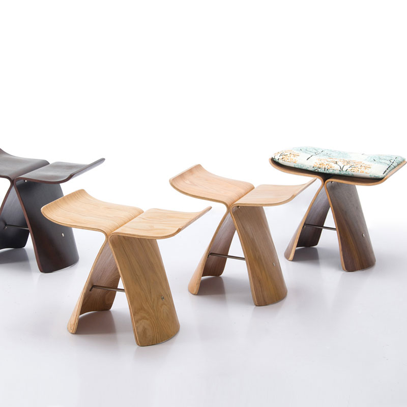 Creative Small Stool, Small Stool, Low Stool, Living Room Chair, Butterfly Stool, Wooden Stool, Shoes Stool, Shoes Stool, Fashio
