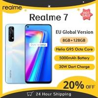 Realme 7 NFC 6.5''FHD+ 8GB 128GB Smartphone 30W Dart Charge 5V/6A Helio G95 48MP Fullscreen 5000mAh Unlocked Phone 1