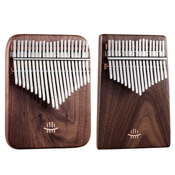 HLURU Kalimba czarny orzech kręcone rysunek klawiatura kciuk fortepian faza Kalimba instrumenty muzyczne instrumenty klawiszowe tanie i dobre opinie ADDFOO CN (pochodzenie) Beginner Other 21 key woodcolor black walnut 14x18cm