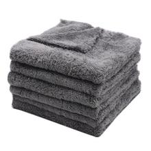6 sztuk 350GSM ultra grube ręczniki z mikrofibry szmatka do czyszczenia samochodu Auto Wash woskowanie suszenie ręcznik do polerowania detali