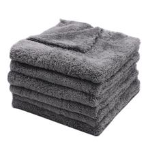 6PCS 350GSM Ultra Thick Edgeless Microfiber Towels Car Cleaning Cloth Auto Wash Waxing Drying Polishing Detailing Towel