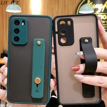 Silikonowa opaska na rękę etui na telefon do Huawei Nova 3i Nova 5T 5i Pro Nova 7 SE Nova 6 SE Nova Nova 8 SE Honor 20 opaska na nadgarstek tanie tanio liviace CN (pochodzenie) Częściowo przysłonięte etui Transparent Zwykły przezroczyste Matte Skin Feel Silicone Transparent Phone Case