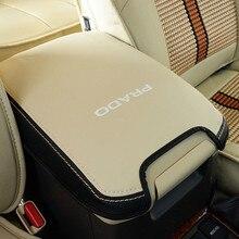 Genuino cuero reposabrazos para Toyota Land Cruiser Prado 150, 2010, 2012, 2013, 2014, 2015, 2016, 2017, 2018