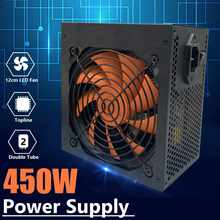 450W puissance Supply110V-230V PSU PFC silencieux ventilateur LED ATX 24pin 12V ordinateur 4 SATA Gaming PC alimentation pour ordinateur Intel AMD