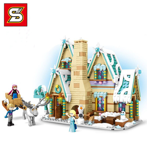 Image 5 - Amigas SY1429 SY1430 SY1431 SY6580 Castillo de la princesa de la nieve Anna Olaf City, tienda de comestibles, bloques de construcción de ladrillos, regalos para niños