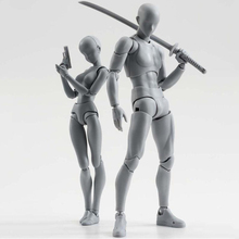 цена на Body-Kun DX Body-Chan DX Action PVC SHF Figure Grey Color Ver Figure In Box