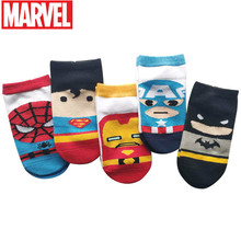 Dianey 2020 Spring And Summer New Cartoon Socks For Children Marvel Superman Short Barrel Shallow Mouth Children's Socks sell well new spring and summer children s cartoon short socks children spring and summer cartoon smiley invisible boat socks