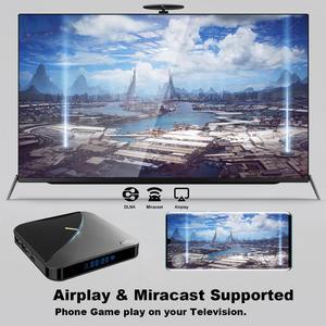 Image 5 - A95X F3 אוויר טלוויזיה תיבת אנדרואיד 9.0 RGB אור טלוויזיה תיבת Amlogic S905X3 8K Plex Media Server Google Play a95X F3 חכם טלוויזיה תיבה