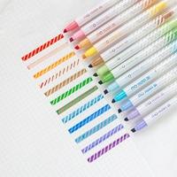 12pcs Magic color highlighter pen set Dual-side fluorescent erasable marker Liner drawing art pen Stationery Office School A6809