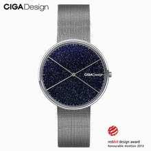 CIGA Design CIGAควอตซ์นาฬิกาโรแมนติกStarry Skyนาฬิกาข้อมือสตรีสุภาพสตรีนาฬิกาWins Red Dot Design Award feminino