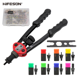 HIFESON Hand Threaded Rivet Nut Gun 70/95/300PCS Nuts Insert Manual Riveter Rivnut Tool for M3 M4 M5 M6 M8 M10 M12 Nut