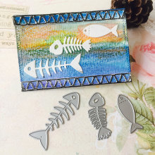 Cutting Dies Gift Pattern Diary Book Fish Bone 3pcs Cute Eco-Friendly Photo Birthday Decor Cards Party Supplies Kid'S DIY