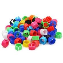 Anneaux de pieds de Pigeon en plastique, 10 couleurs, diamètre intérieur 8mm, Clip de colombe, anneau de pied de caille, 100 pièces