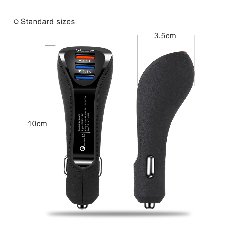 Fast Charger USB Dual Port Car Charger Adapter Auto Mobile Phone Charger for Xiaomi Samsung iPhone X 8 7 5 6 Fast Phone Charger