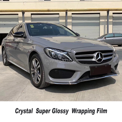 High Quality Nardo gray Glossy Vinyl Wrap Sticker crystal With Air Bubble Free Vehicle  Wrapping Foil Highest quality Adhesive