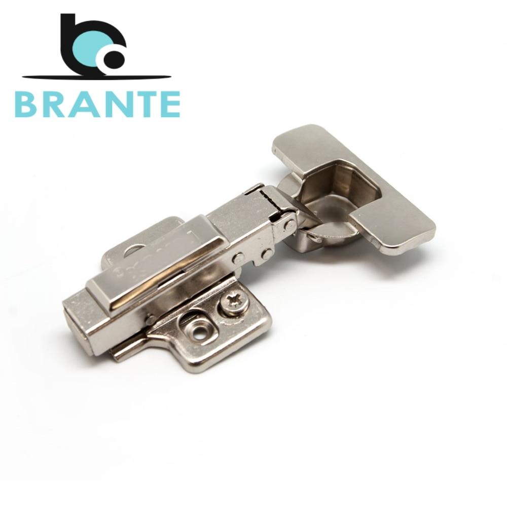 Комплект 2 петель Brante 3D четырехшарнирная clip on с доводчиком, 105 градусов, накладная