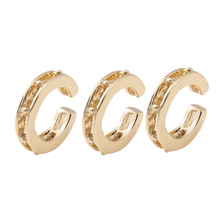 Trendy Gold Color Ear Cuff Set for Women Simple Hollow Metal C-shaped Earcuffs Clip on Earrings Statement Party Jewelry