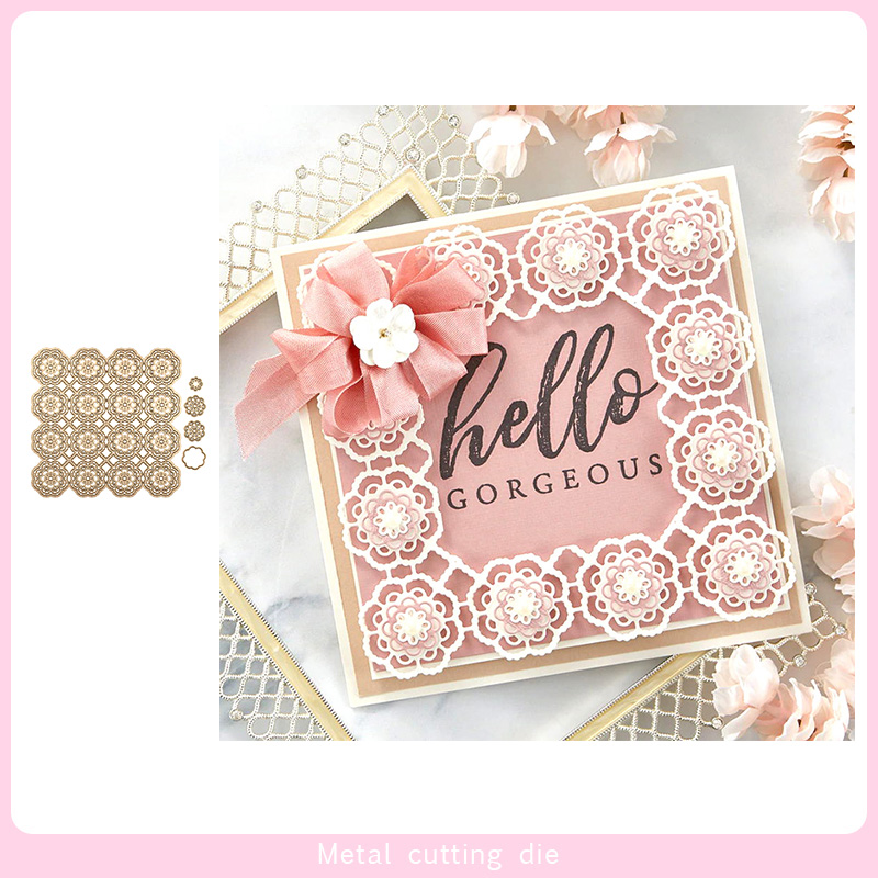 Flower Lace Frame Metal Cutting Dies For DIY Scrapbooking Photo Album Decorative Embossing Paper Card Crafts Die Cut 2019