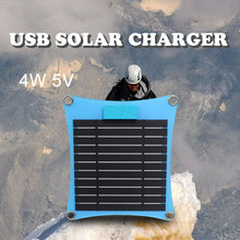 4w portable USB solar panel outdoor 5v solar power chargers battery panel for cell phone