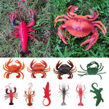 Fake Lobster Model Artificial Marine Animals Decoration for Aquarium Home Party Display Kids Play Toys(China)