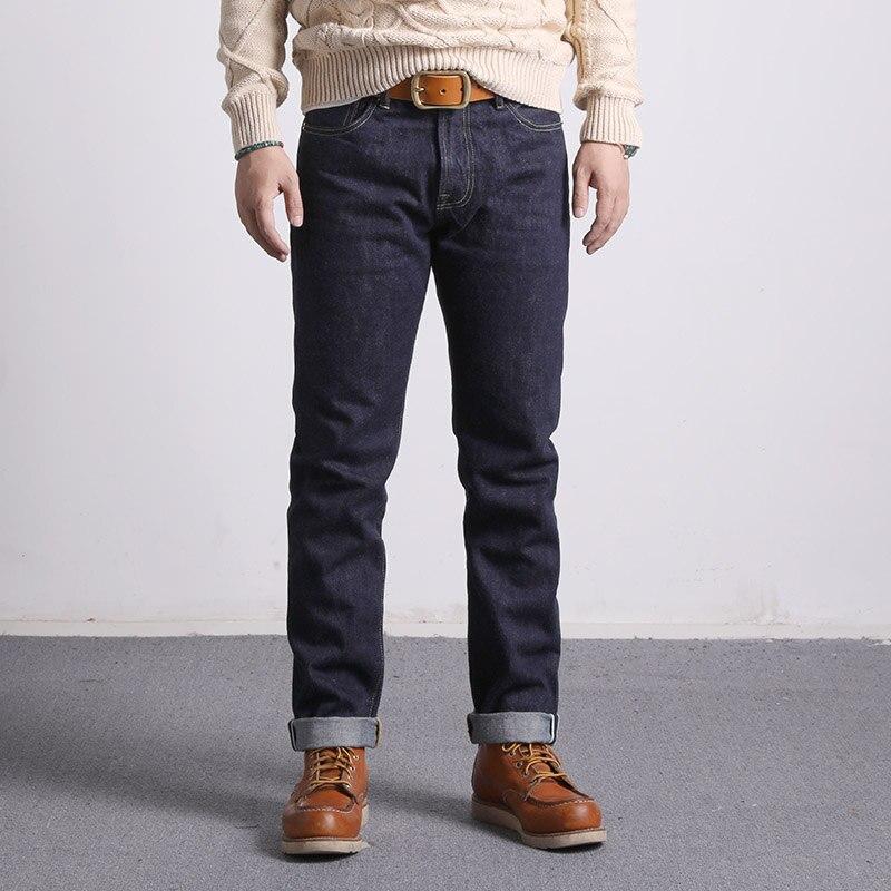 511XX-0009 Read Description! 16oz Heavy Weight Raw Indigo Selvage One Washed Denim Pants Sanforized Raw Denim Jean