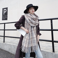 Luxury Brand Scarves Women Plaid Solid Cashmere Scarf Tassel Love Pattern Pashmina Echarpe Gift For Lady Cape Shawls And Wraps