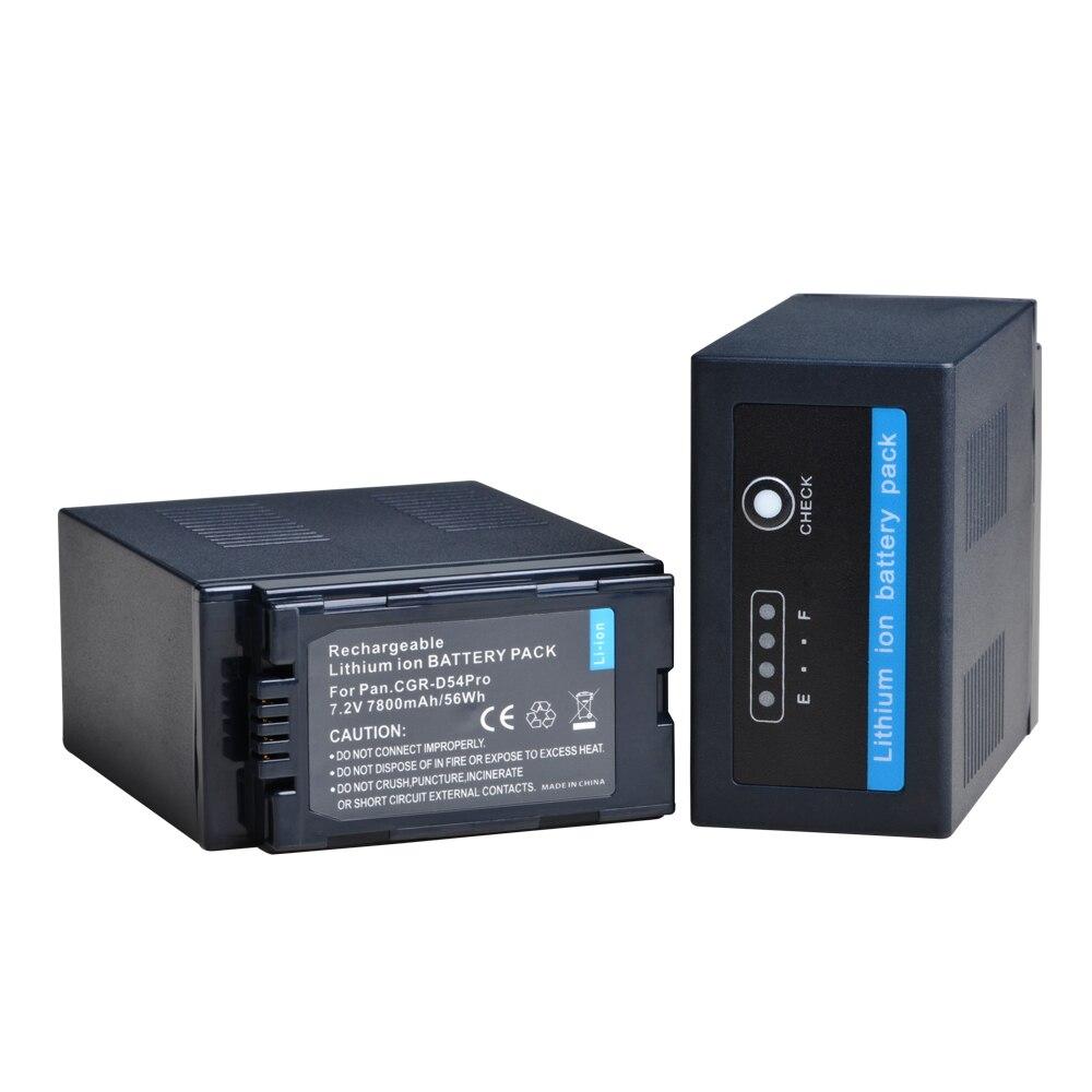 para Panasonic cga-d54s Bateria cga-d54se 7800mah