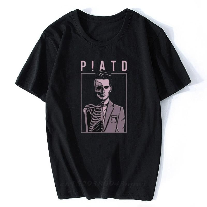 Pânico! No disco patd morte do solteiro preto unissex homem/mulher t camisa roupas estéticas hombre camisa do vintage