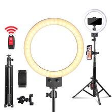 9 dimmbare LED Selfie Ring Licht für machen up kamera für Youtube video kontinuierliche beleuchtung live schönheit licht