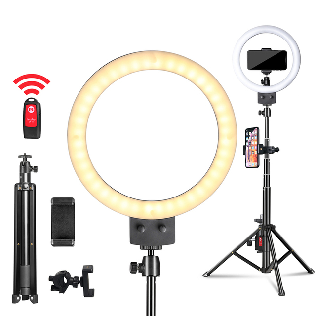 9inch/23cm LED Selfie Ring Light with Tripod for Phone Photography Youtube Makeup Video Light