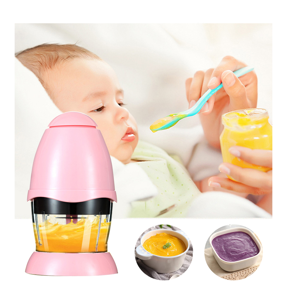 Electric Meat Grinder 200ml Baby Food Supplement Mini Multi-function Household  Food Chopper Meat Vegetable Fruits Grinders 200W