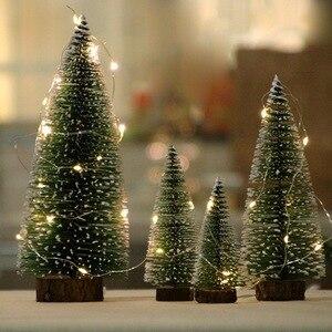 1pc Mini Christmas Tree Ornament DIY Simulation Pine Tree Small Sisal Silk Cedar Christmas Tree Home Xmas New Year Desktop Decor
