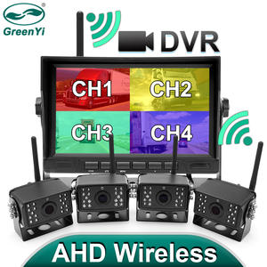 Recorder Dvr Monitor Wifi-Camera Reverse-Backup Wireless-Truck 7inch Greenyi 720P AHD